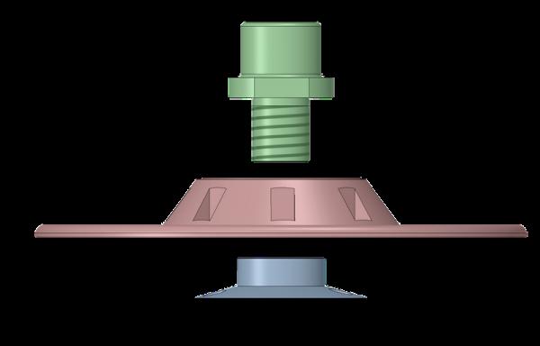 Комплект: адаптер, държач и гайка